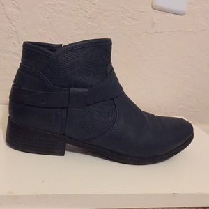 Blue French Booties